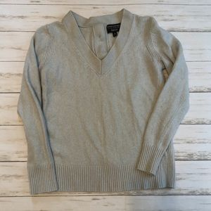 Banana Republic Back Button V Neck Sweater